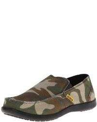 Zapatillas slip-on de camuflaje verde oscuro