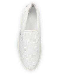 Zapatillas slip-on de cuero blancas de Jimmy Choo