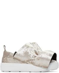 Zapatillas slip-on de cuero grises de MSGM