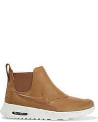 Zapatillas slip-on de cuero marrón claro de Nike