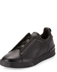 Zapatillas slip-on de cuero negras de Ermenegildo Zegna