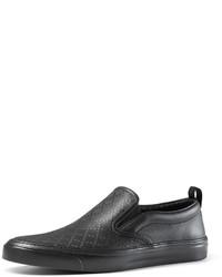 Zapatillas slip-on de cuero negras de Gucci