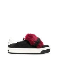 Zapatillas slip-on de cuero negras de Marc Jacobs