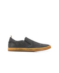 Zapatillas slip-on de cuero negras de Officine Creative