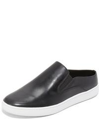 Zapatillas slip-on de cuero negras de Vince
