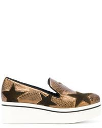 Zapatillas Slip-on de Estrellas Marrón Claro de Stella McCartney