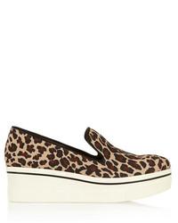Zapatillas Slip-on de Leopardo Marrón Claro de Stella McCartney