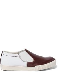 Zapatillas slip-on de lona blancas de Marni