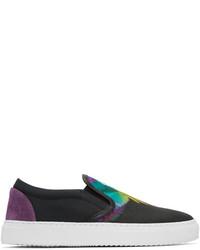 Zapatillas slip-on de lona en multicolor