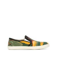 Zapatillas slip-on de lona estampadas en multicolor