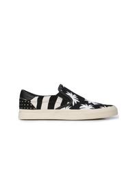 Zapatillas slip-on de lona estampadas en negro y blanco de Amiri