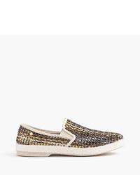 Zapatillas slip-on doradas de J.Crew