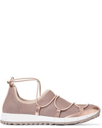 Zapatillas slip-on doradas de Jimmy Choo