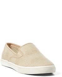 Zapatillas slip-on en beige
