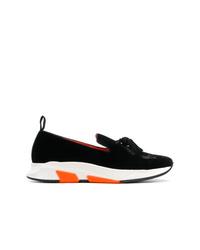 Zapatillas slip-on en negro y blanco de Tom Ford