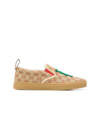 Zapatillas slip-on marrón claro de Gucci