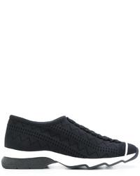 Zapatillas slip-on negras de Fendi