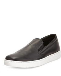 Zapatillas slip-on negras de Prada