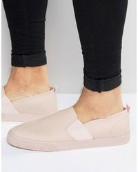 Zapatillas slip-on rosadas