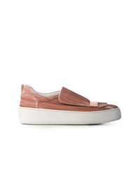 Zapatillas slip-on rosadas de Sergio Rossi