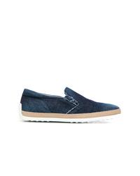 Zapatillas slip-on vaqueras azul marino de Tod's