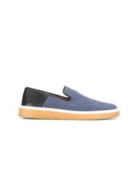 Zapatillas slip-on vaqueras azules de Giuseppe Zanotti Design