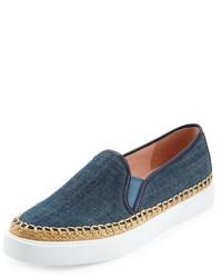Zapatillas slip-on vaqueras azules de Kate Spade