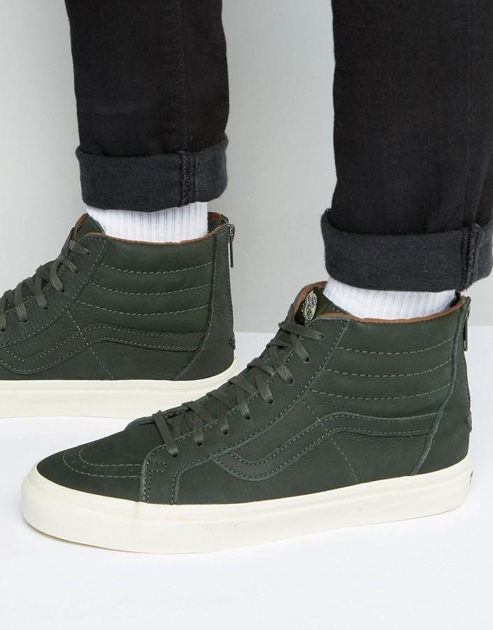 Vans SK8 Hi Negras verde