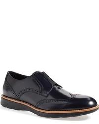 Zapatos brogue de cuero azul marino de Ermenegildo Zegna