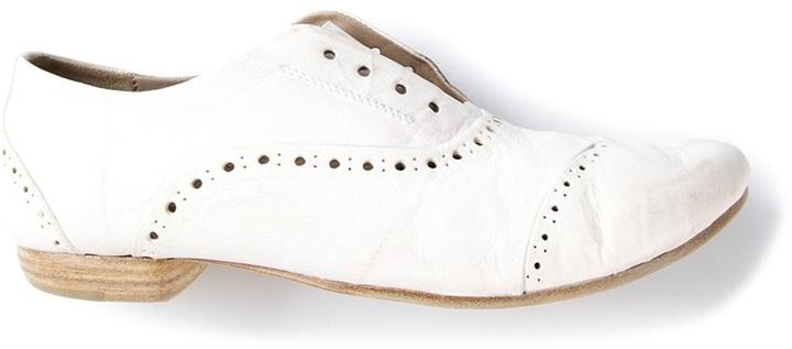 Zapatos brogue de cuero blancos de Marsèll