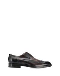 Zapatos brogue de cuero en marrón oscuro de BOSS HUGO BOSS