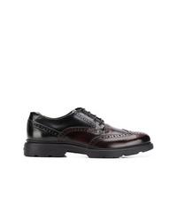 Zapatos brogue de cuero en marrón oscuro de Hogan