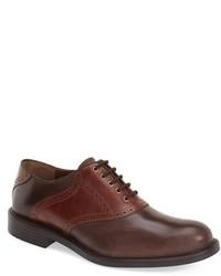 Zapatos brogue de cuero en marrón oscuro de Johnston & Murphy
