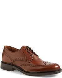 Zapatos brogue de cuero marrónes de Aquatalia