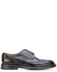 Zapatos brogue de cuero marrónes de Doucal's