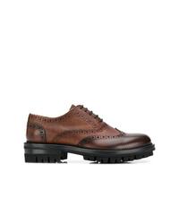 Zapatos brogue de cuero marrónes de DSQUARED2