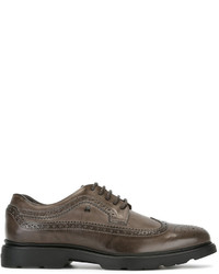 Zapatos brogue de cuero marrónes de Hogan