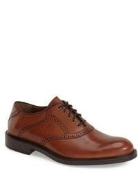 Zapatos brogue de cuero marrónes de Johnston & Murphy