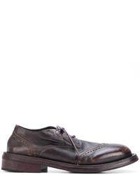 Zapatos brogue de cuero marrónes de Marsèll
