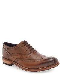 Zapatos brogue de cuero marrónes de Ted Baker