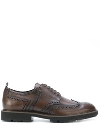 Zapatos brogue de cuero marrónes de Tod's