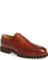 Zapatos Brogue de Cuero Marrónes de Vince Camuto