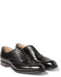 Zapatos brogue de cuero negros