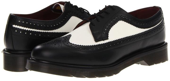 Blancos Brogue Cuero Martens Zapatos Dr Negros Y De Dónde dwBvxxXPq
