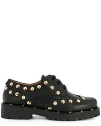 Zapatos brogue de cuero negros de Twin-Set