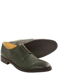 Zapatos brogue de cuero verde oscuro