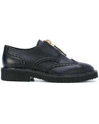 Zapatos brogue negros de Giuseppe Zanotti Design