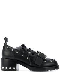 Zapatos con cordones de cuero con tachuelas negros de No.21