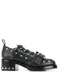 Zapatos con cordones de cuero gruesos negros de No.21