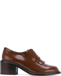 Zapatos con cordones de cuero marrónes de Robert Clergerie